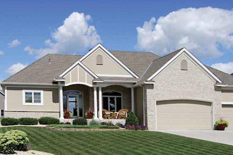 Cottage Exterior - Front Elevation Plan #320-492 - Houseplans.com