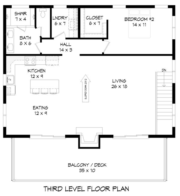 Dream House Plan - Contemporary Floor Plan - Upper Floor Plan #932-256