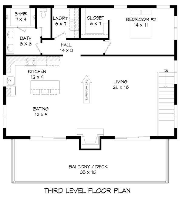 Contemporary Floor Plan - Upper Floor Plan #932-256