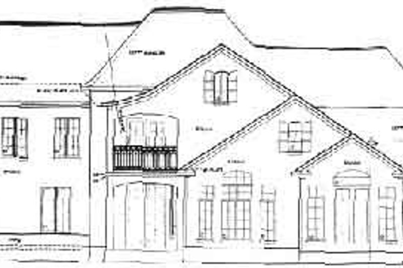 European Exterior - Rear Elevation Plan #20-1132 - Houseplans.com