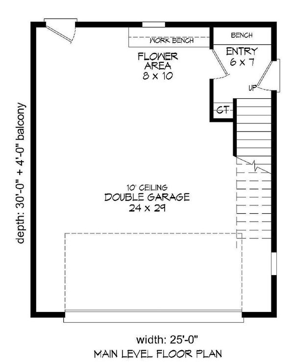 Southern Floor Plan - Lower Floor Plan Plan #932-98