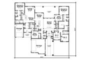Ranch Style House Plan - 4 Beds 4.5 Baths 3985 Sq/Ft Plan #20-2303 Floor Plan - Main Floor