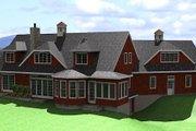 European Style House Plan - 3 Beds 4.5 Baths 2990 Sq/Ft Plan #75-112 Exterior - Rear Elevation