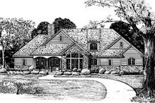 Home Plan - Country Exterior - Front Elevation Plan #20-130