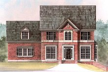 Dream House Plan - Colonial Exterior - Front Elevation Plan #119-280