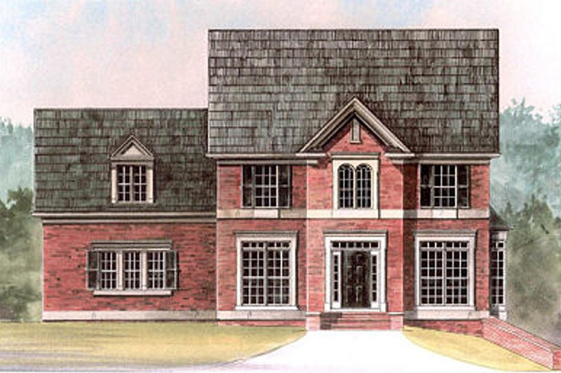 Colonial Exterior - Front Elevation Plan #119-280