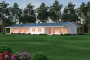 Ranch Style House Plan - 3 Beds 3.5 Baths 3108 Sq/Ft Plan #888-8 Exterior - Other Elevation