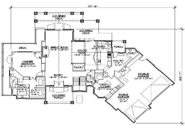 Home Plan - Traditional Floor Plan - Main Floor Plan #5-298