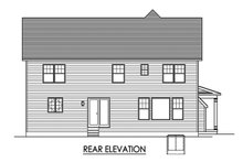 Country Exterior - Rear Elevation Plan #1010-246