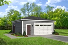 Dream House Plan - Contemporary Exterior - Front Elevation Plan #932-316