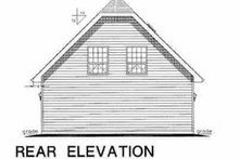 House Plan Design - Traditional Exterior - Rear Elevation Plan #18-401