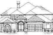 European Style House Plan - 6 Beds 4.5 Baths 4599 Sq/Ft Plan #325-176 Exterior - Front Elevation