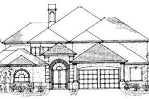 European Exterior - Front Elevation Plan #325-176