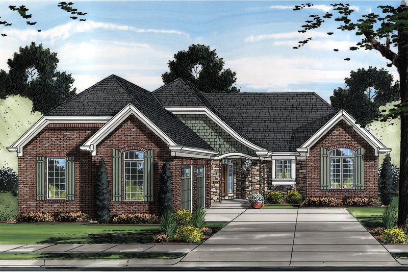 House Plan Design - European Exterior - Front Elevation Plan #46-833