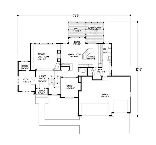 Traditional Floor Plan - Main Floor Plan Plan #56-594