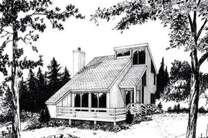 Contemporary Exterior - Front Elevation Plan #312-839
