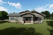 Craftsman Style House Plan - 4 Beds 3.5 Baths 3690 Sq/Ft Plan #1069-12 Exterior - Rear Elevation