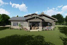 Craftsman Exterior - Rear Elevation Plan #1069-12