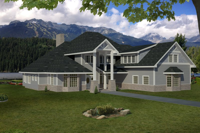 Home Plan - Country Exterior - Front Elevation Plan #117-892