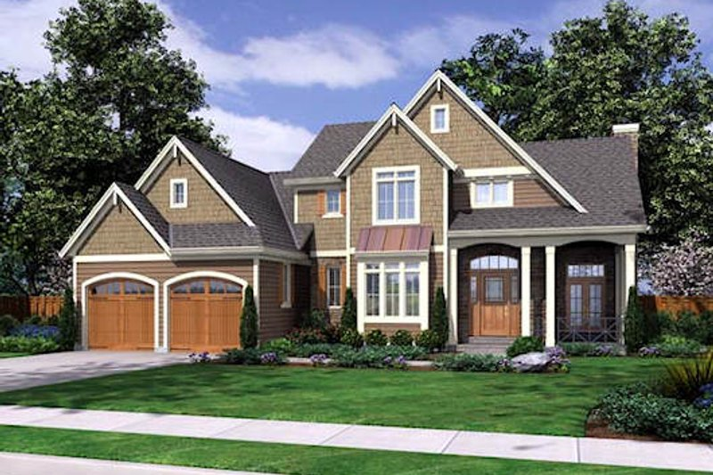Home Plan - European Exterior - Front Elevation Plan #46-477