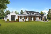 Farmhouse Style House Plan - 3 Beds 2.5 Baths 2495 Sq/Ft Plan #48-943 Exterior - Rear Elevation
