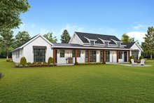 Farmhouse Exterior - Rear Elevation Plan #48-943