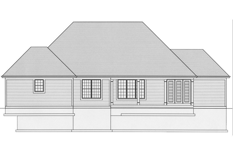 Traditional Exterior - Rear Elevation Plan #46-437 - Houseplans.com