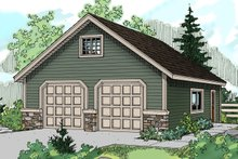 Traditional Exterior - Front Elevation Plan #124-633