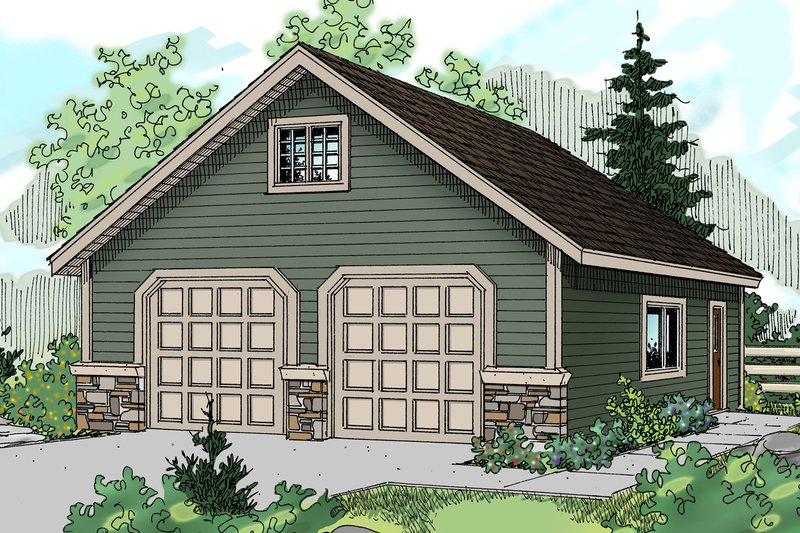 Home Plan - Traditional Exterior - Front Elevation Plan #124-633