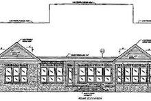 Home Plan - European Exterior - Rear Elevation Plan #37-128