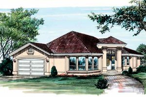 Exterior - Front Elevation Plan #47-586