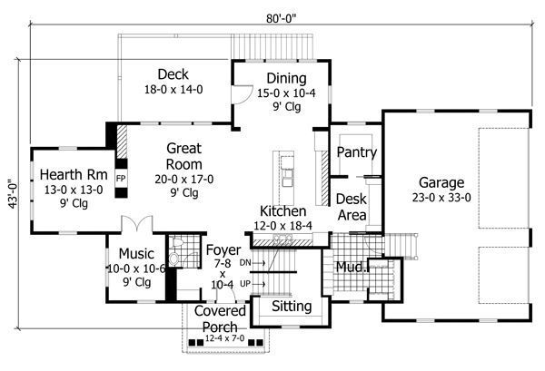 Floor Plan - Main Floor Plan Plan #51-540