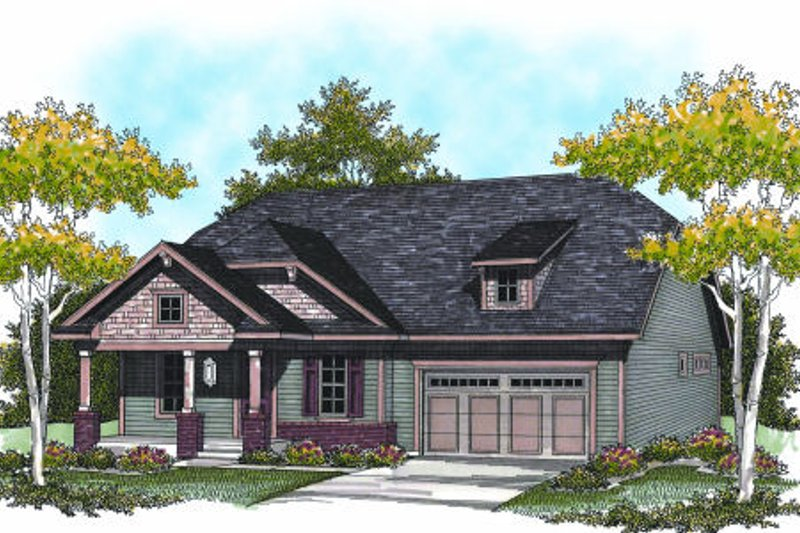 Traditional Exterior - Front Elevation Plan #70-947 - Houseplans.com