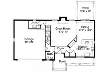 Craftsman Floor Plan - Main Floor Plan Plan #46-290