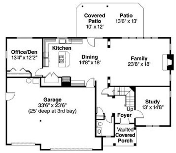 Traditional Floor Plan - Main Floor Plan Plan #124-743