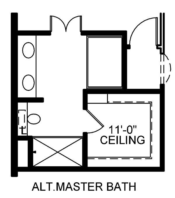House Plan Design - Alt. Master Bath