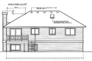 Traditional Style House Plan - 4 Beds 3 Baths 1143 Sq/Ft Plan #87-301 Exterior - Rear Elevation