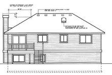 Traditional Exterior - Rear Elevation Plan #87-301