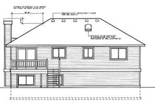 Home Plan - Traditional Exterior - Rear Elevation Plan #87-301