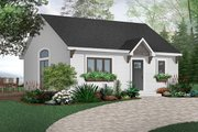 Cottage Style House Plan - 1 Beds 1 Baths 784 Sq/Ft Plan #23-113