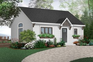 House Plan Design - Cottage Exterior - Front Elevation Plan #23-113