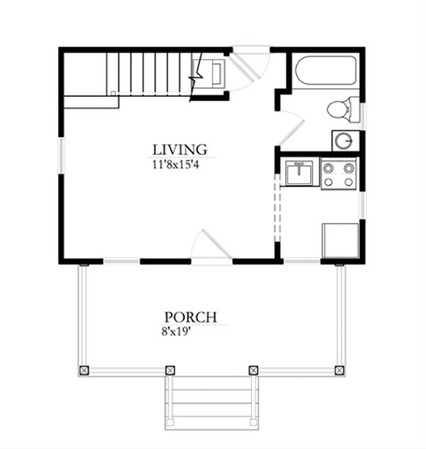 Cottage Floor Plan - Main Floor Plan #514-8