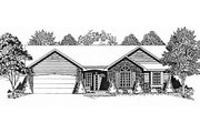 Traditional Style House Plan - 3 Beds 2 Baths 1264 Sq/Ft Plan #58-125 Exterior - Front Elevation