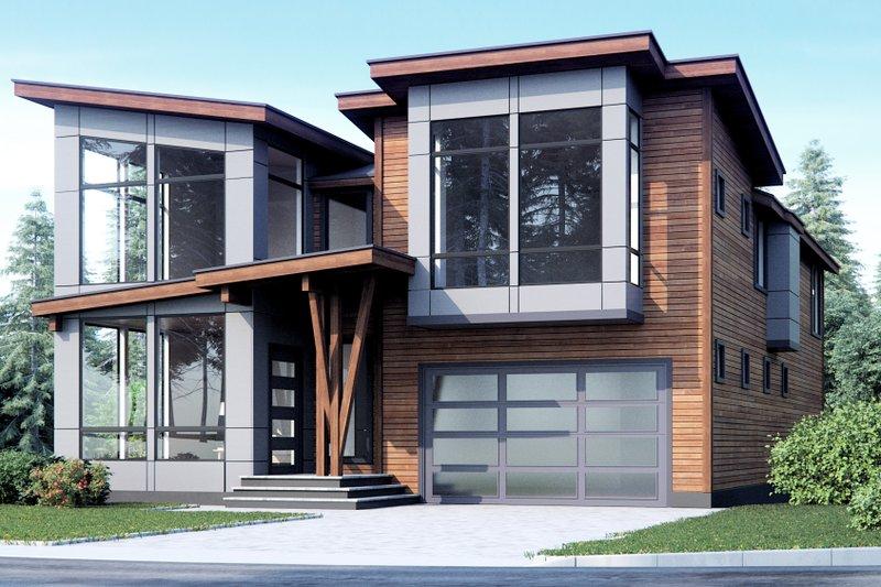 Dream House Plan - Modern Exterior - Front Elevation Plan #1066-10