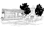 Adobe / Southwestern Style House Plan - 3 Beds 3.5 Baths 2090 Sq/Ft Plan #942-48 Exterior - Outdoor Living
