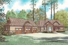 Dream House Plan - Craftsman Exterior - Front Elevation Plan #17-2595