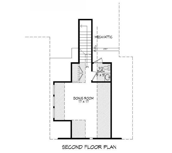 Craftsman Floor Plan - Upper Floor Plan Plan #932-10