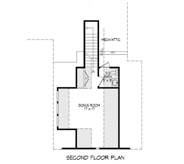 Craftsman Floor Plan - Upper Floor Plan Plan #932-10
