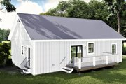 Farmhouse Style House Plan - 2 Beds 2 Baths 1311 Sq/Ft Plan #44-227 Exterior - Rear Elevation