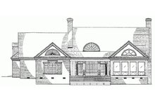 Southern Exterior - Rear Elevation Plan #137-185